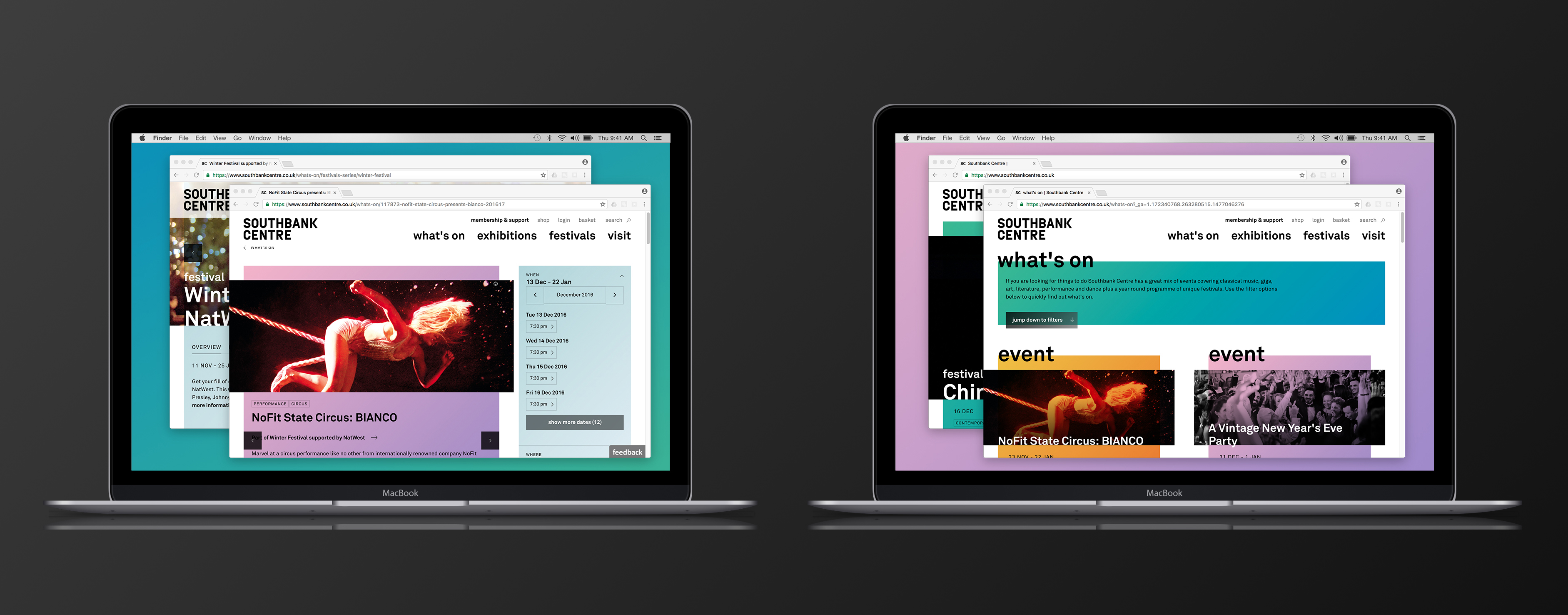 Southbank Centre's homepage