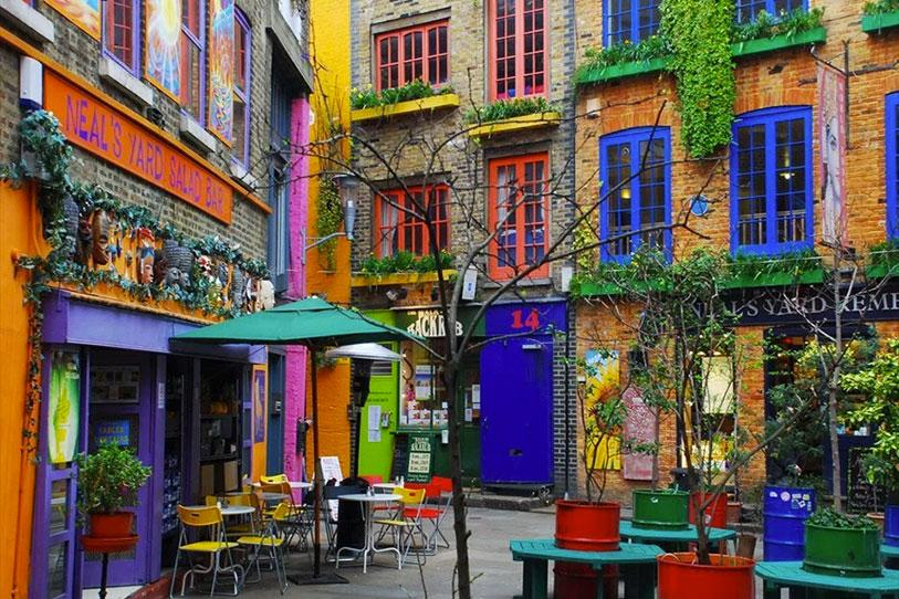 Cafes in Neals Yard, Covent Garden
