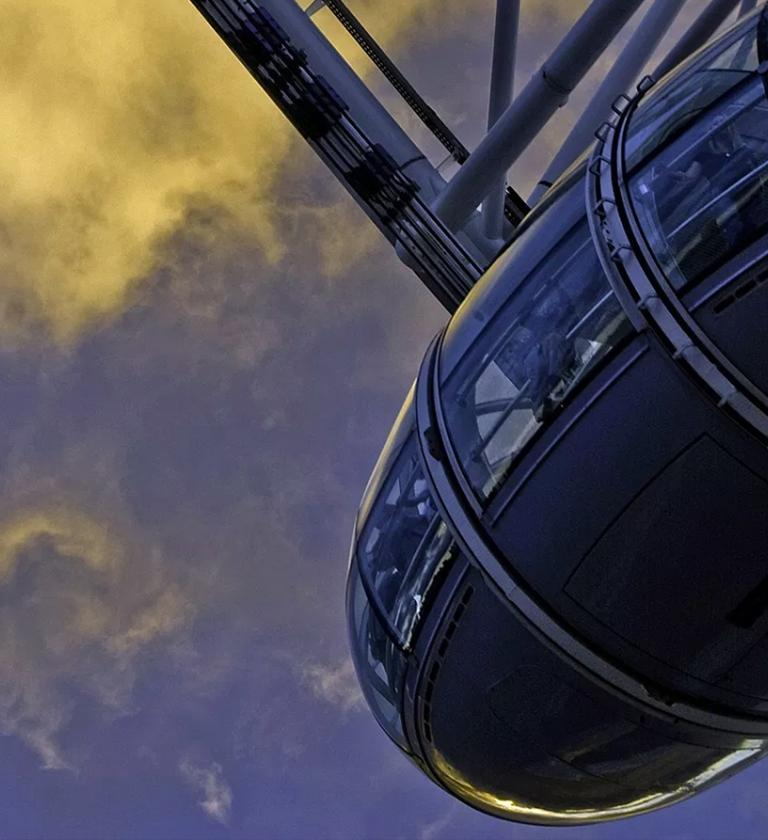 London eye pod shown from below